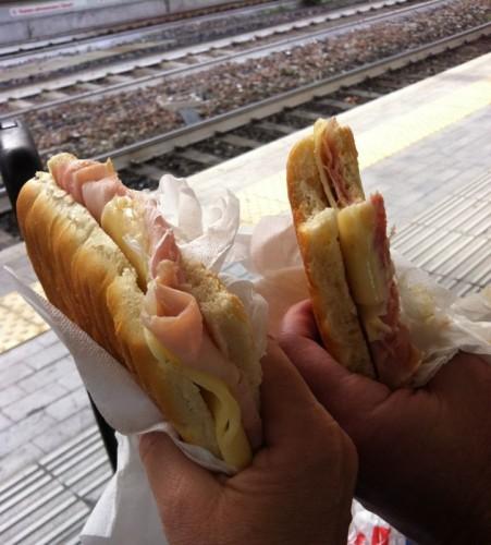 Bologna Train Station Sandwiches
