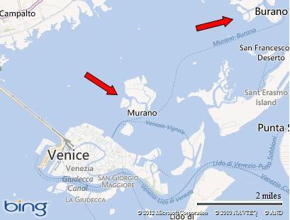 Murano and Burano Map