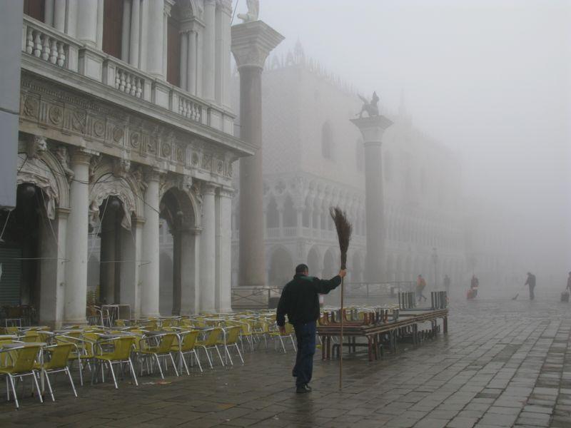 San Marco in fog sweeper