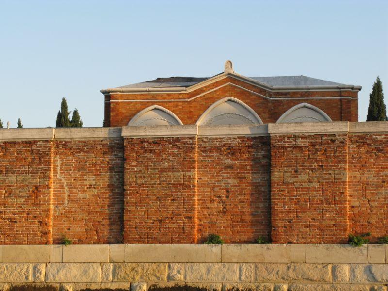 Venice Cemetary brick wall