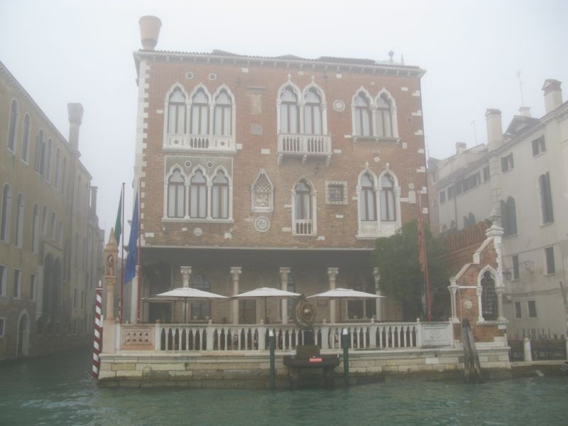 Venice grand canal foggy1